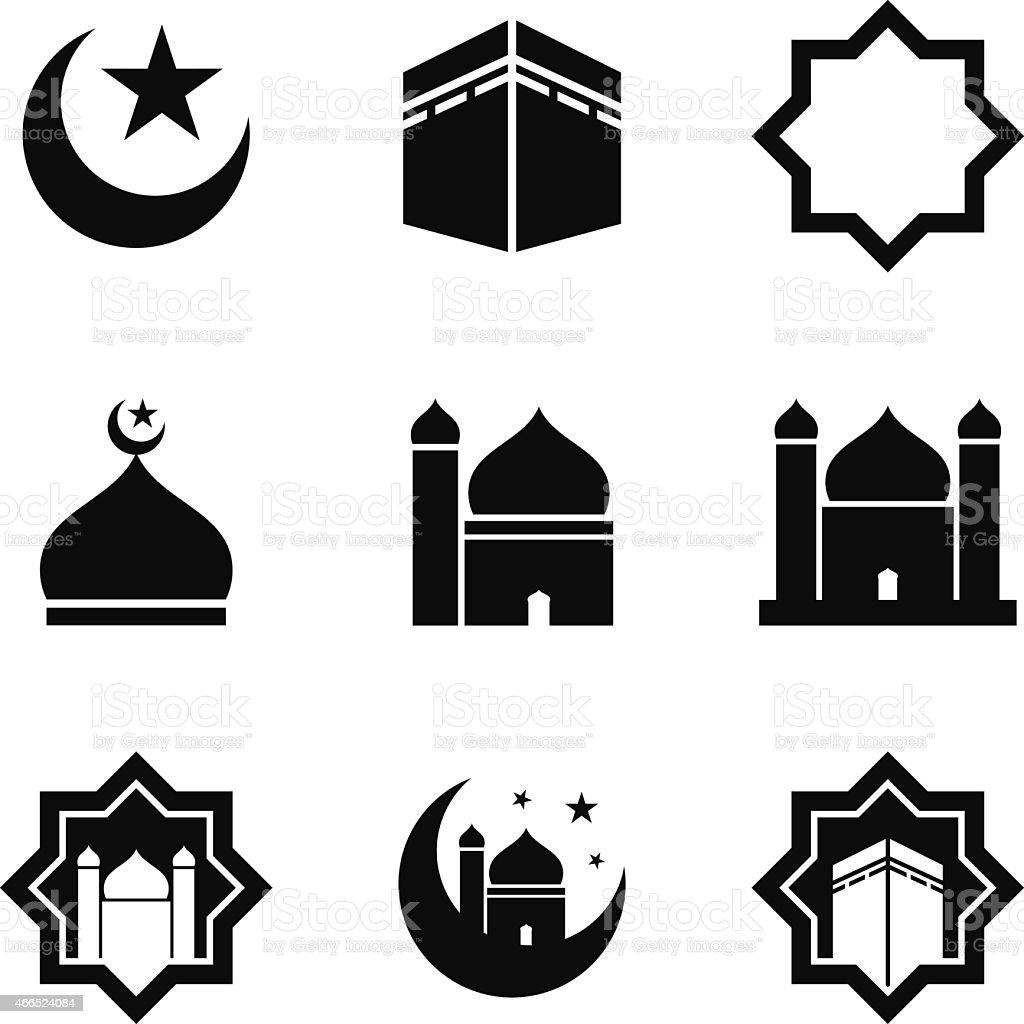 Islamic Icon vector art illustration