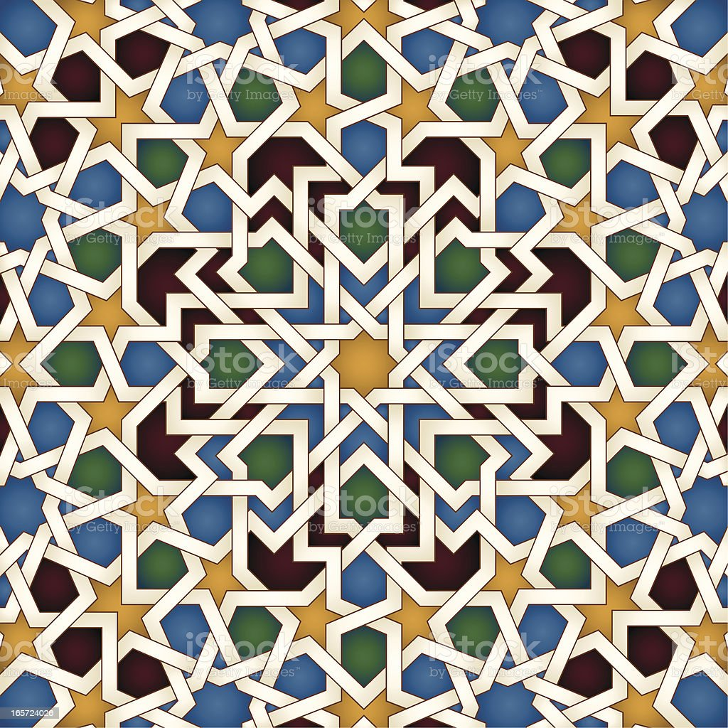 islamic pattern vector art illustration