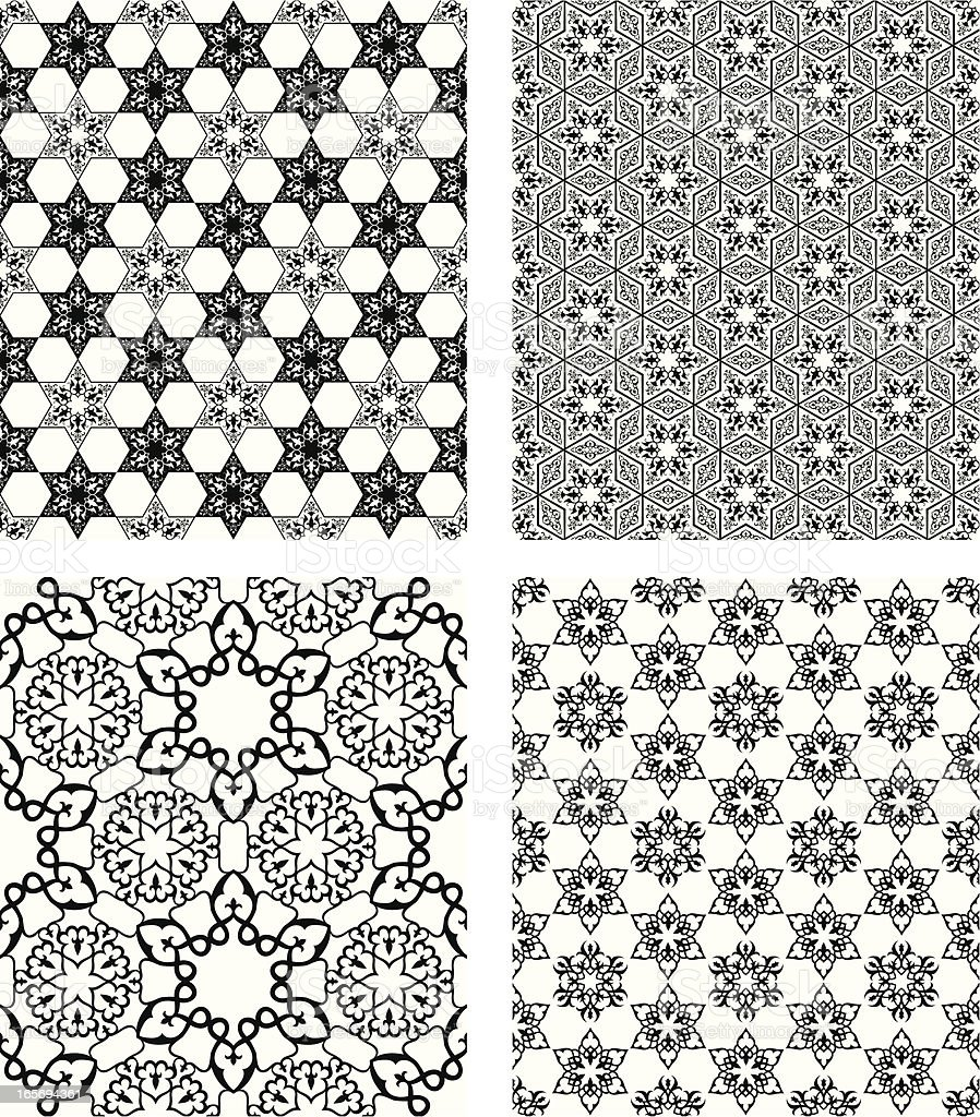 Islamic Patterns Set royalty-free stock vector art