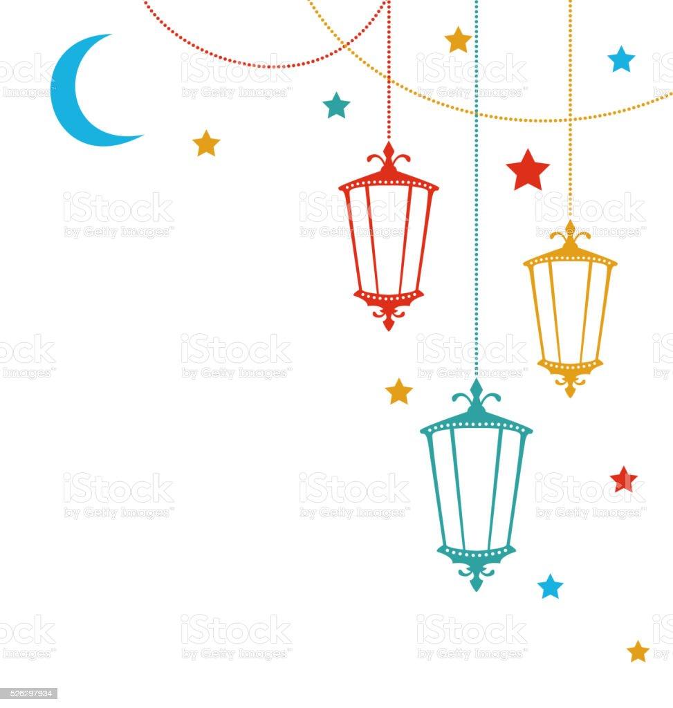 Islamic Postcard for Ramadan Kareem vector art illustration