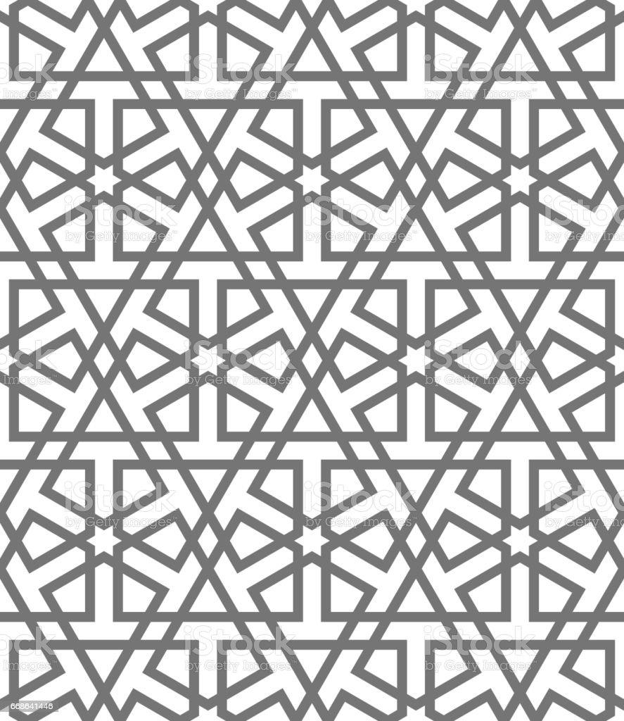 islamic seamless vector pattern geometric ornaments based on