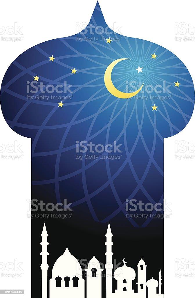 Islamic style background vector art illustration