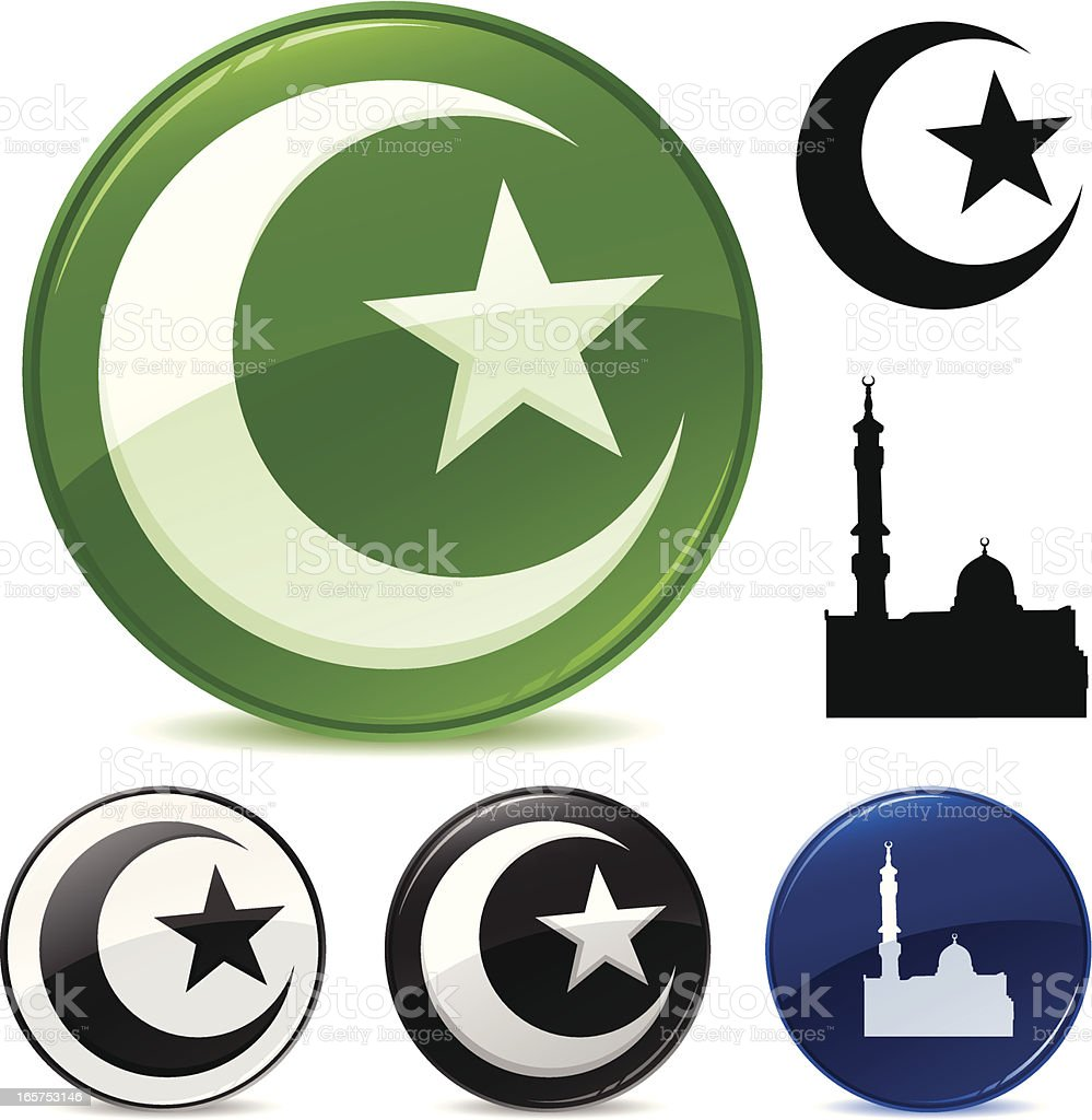 Islamic Symbols vector art illustration