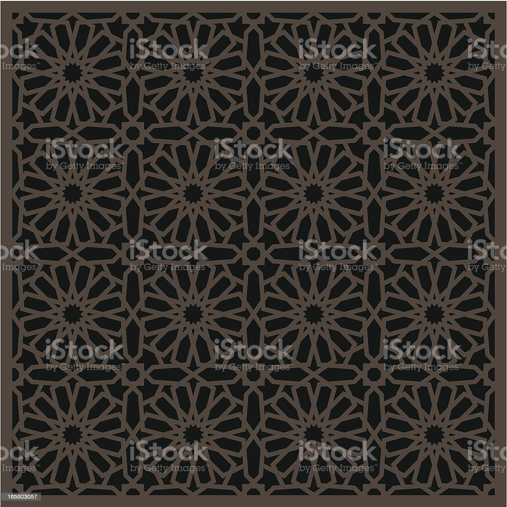 Islamic window pattern vector art illustration