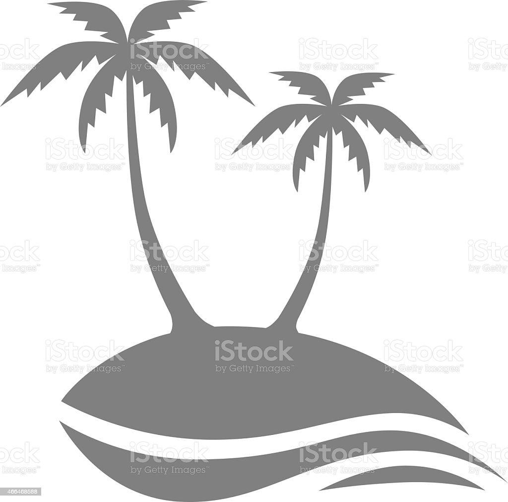 Island icon vector art illustration