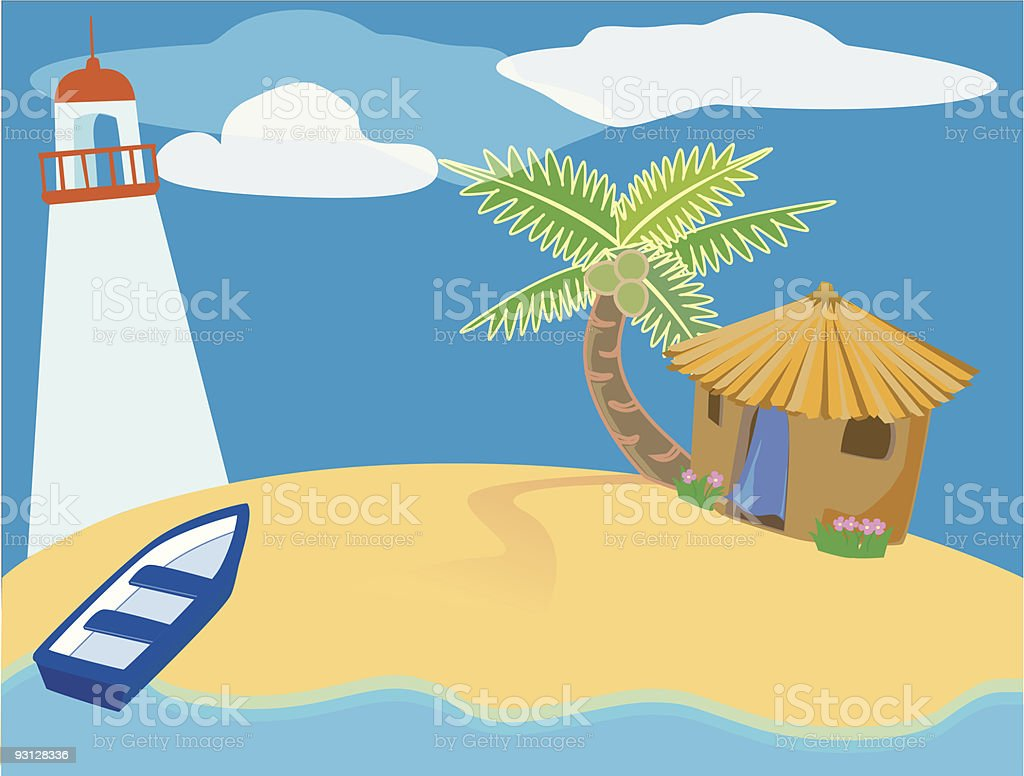 island scene royalty-free stock vector art