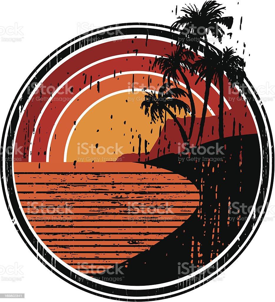 island surf emblem royalty-free stock vector art