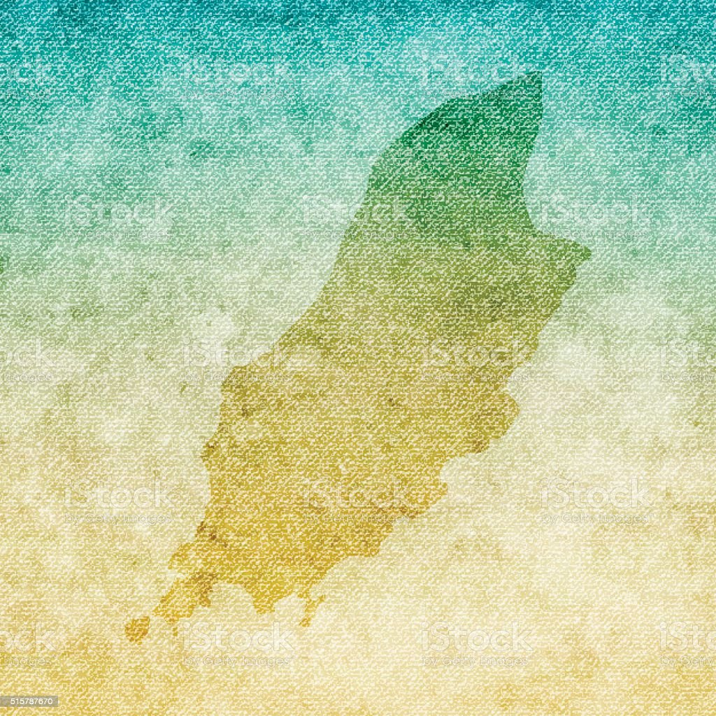 Isle of Man Map on grunge Canvas Background vector art illustration