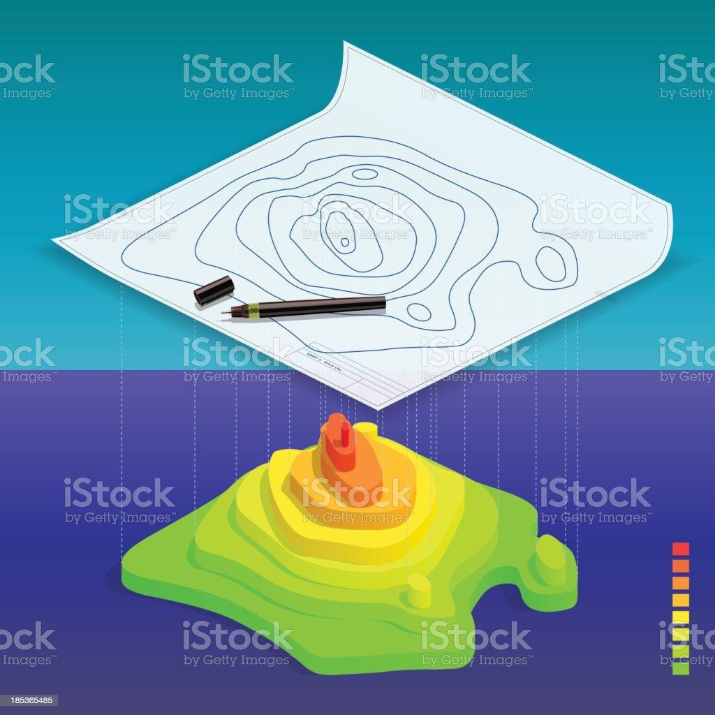 isohypse vector art illustration