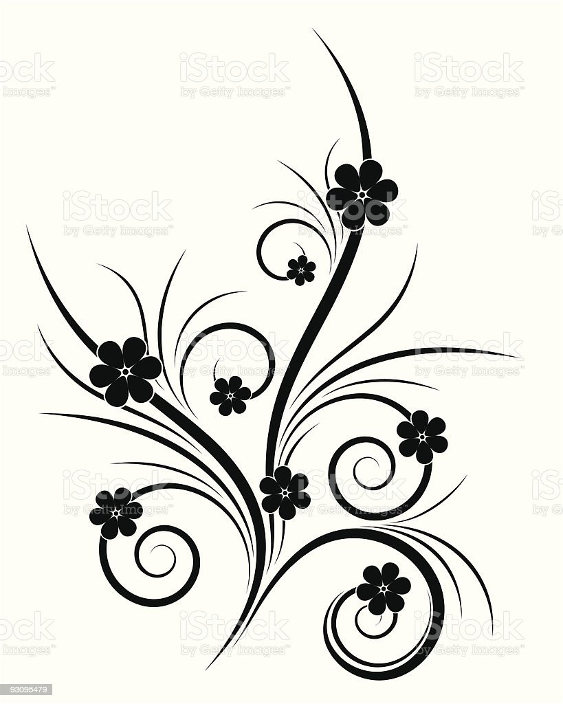 Isolated Abstract Flowers royalty-free stock vector art