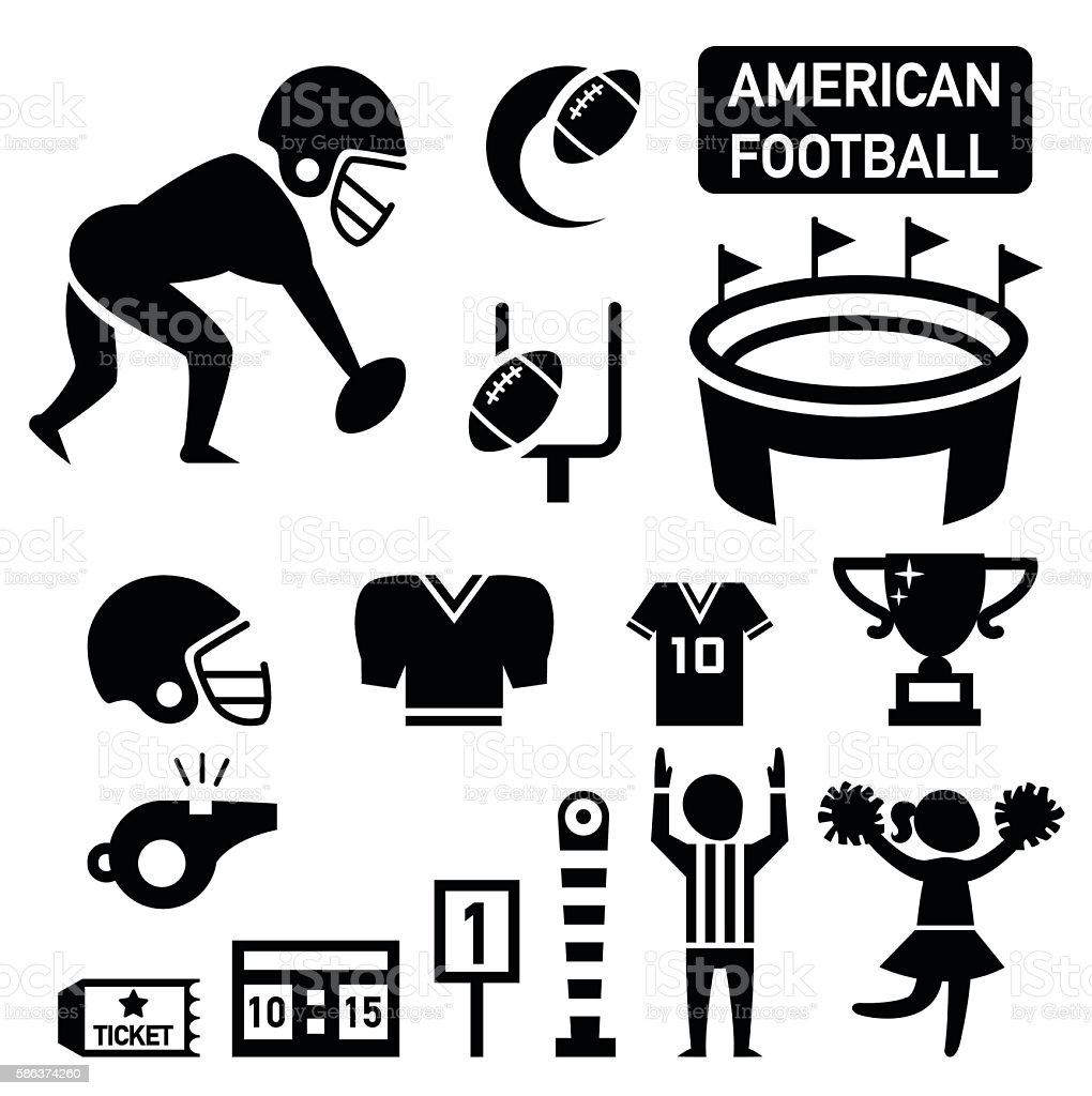 isolated american football icon illustration vector art illustration