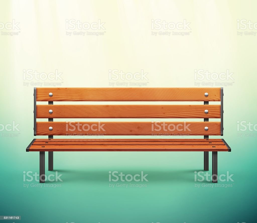 Isolated Bench vector art illustration