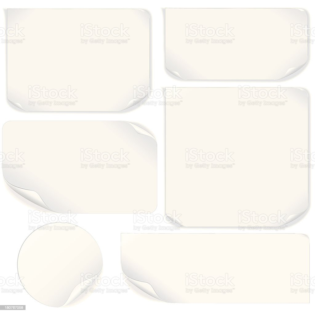 Isolated Blank Paper Sheet. Vector Pack royalty-free stock vector art