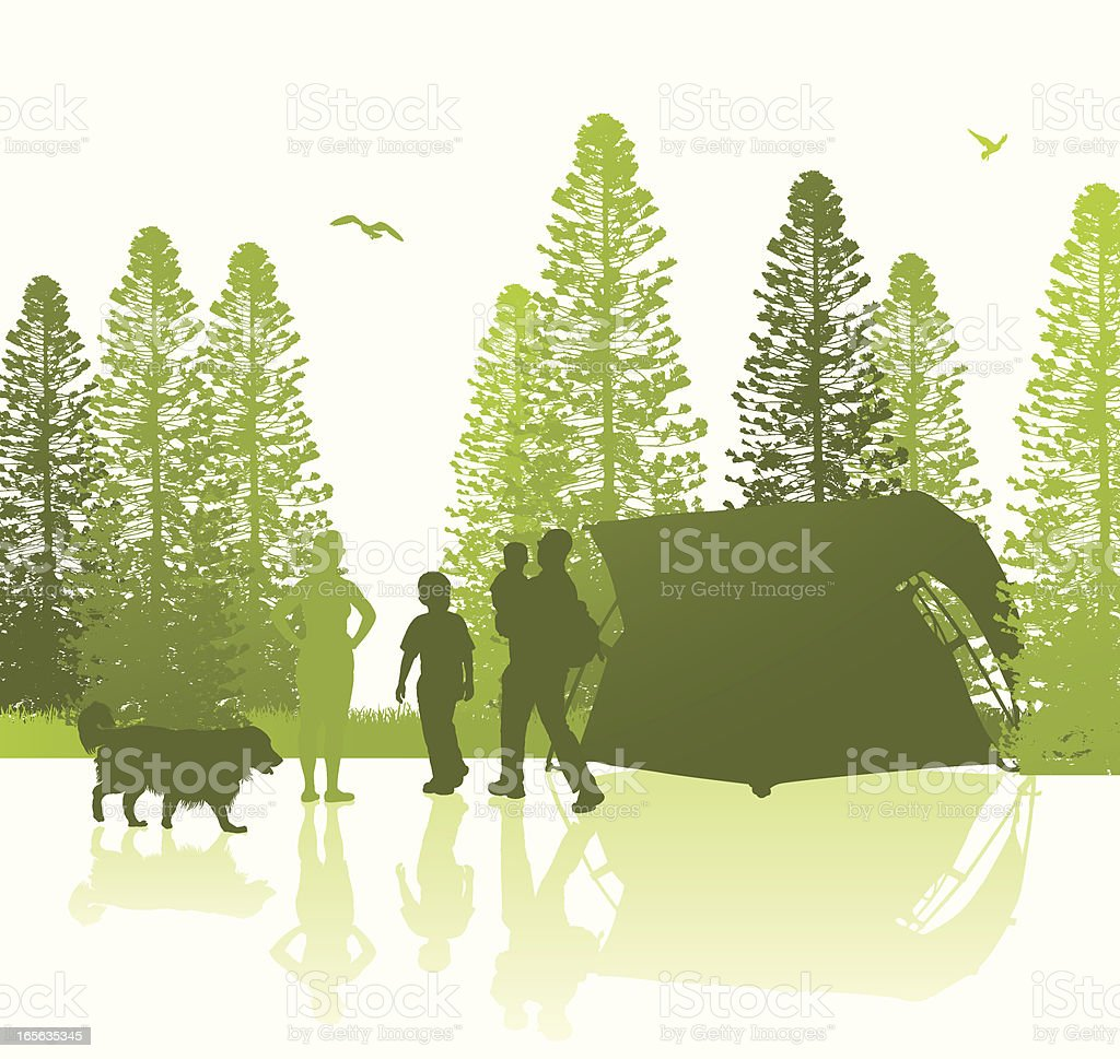 Isolated Camping Scene royalty-free stock vector art
