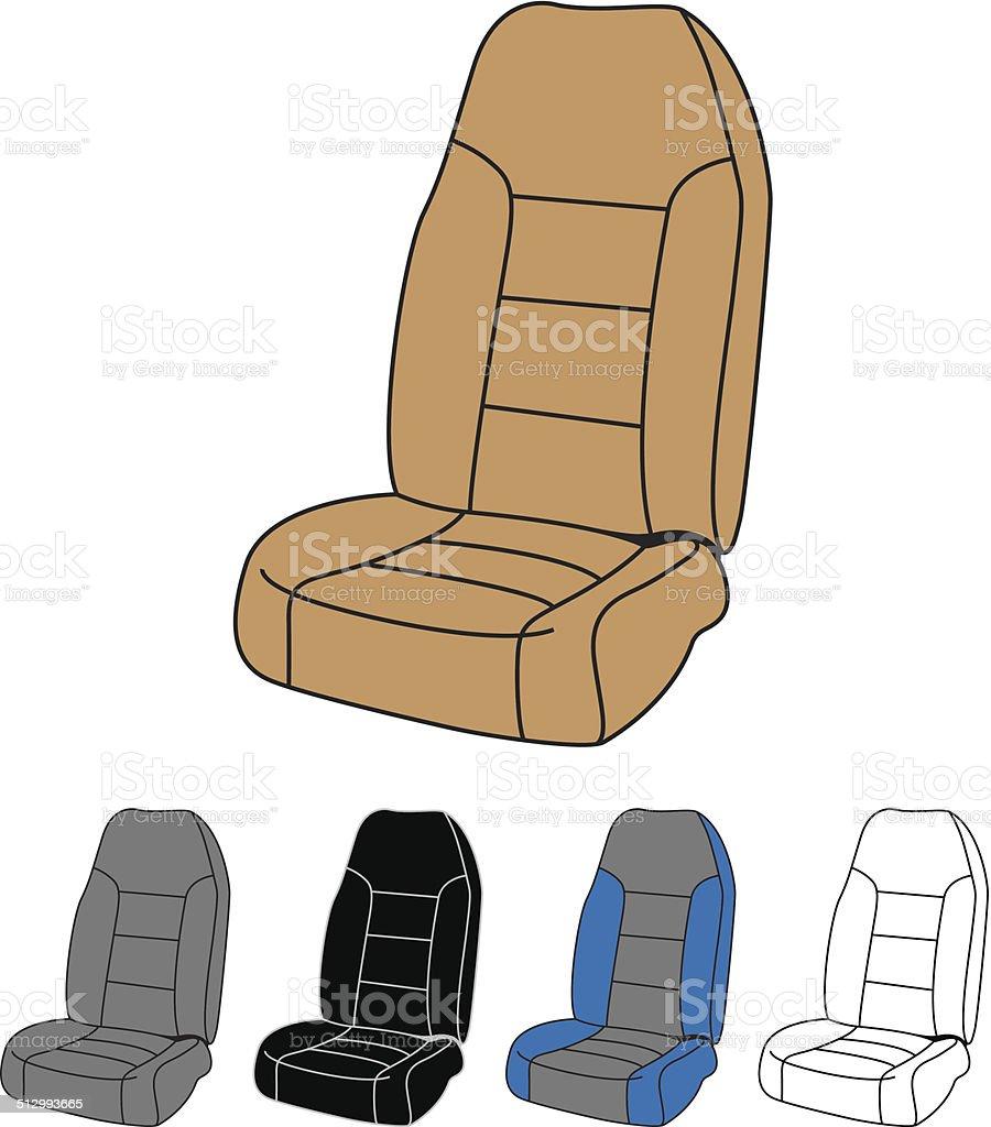 Isolated Car Seat vector art illustration