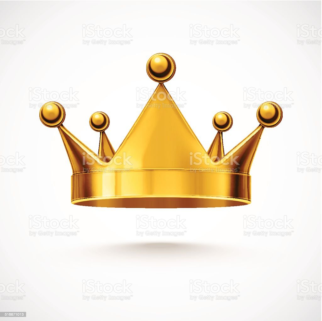 Isolated Crown vector art illustration