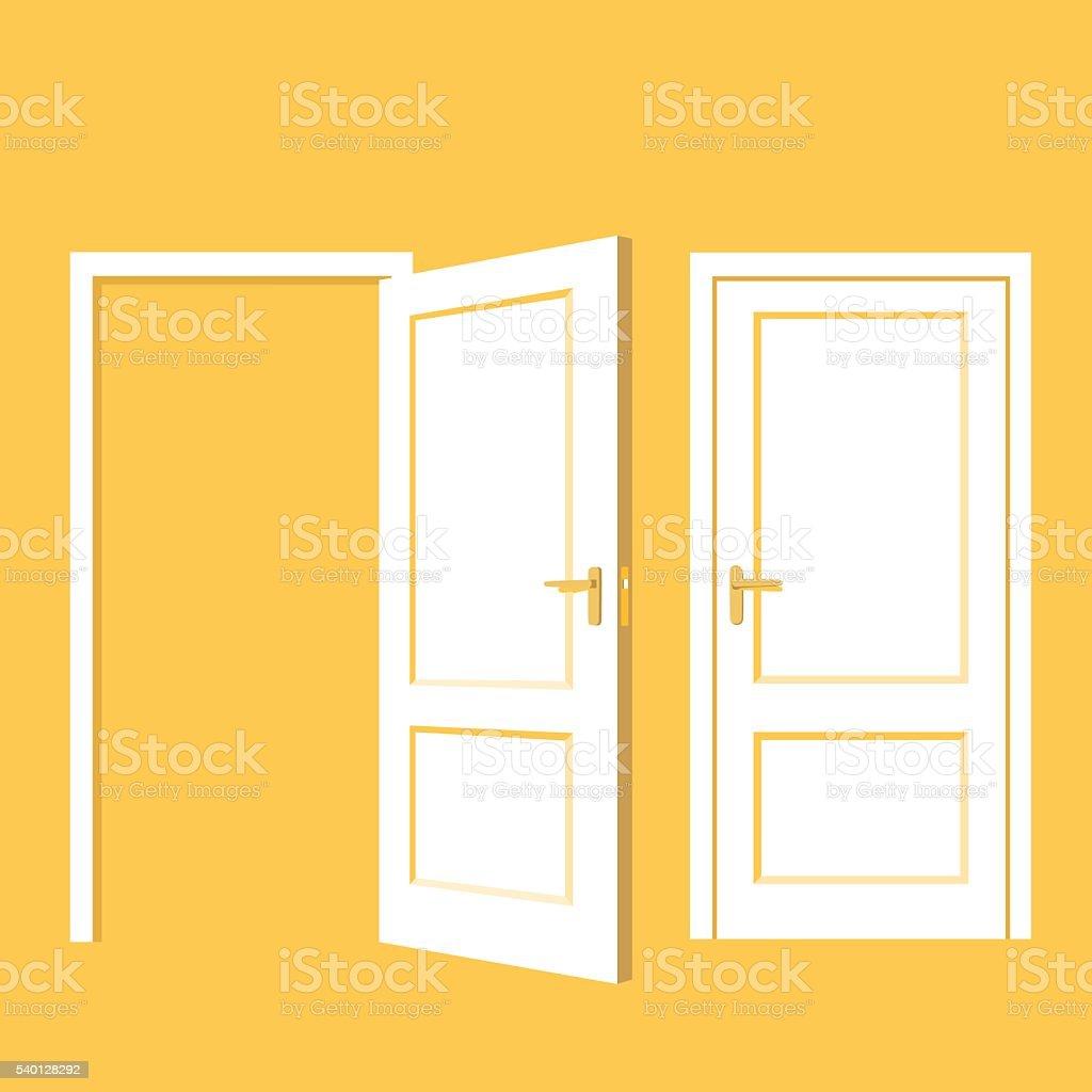 Isolated doors. Realistic vector illustration vector art illustration