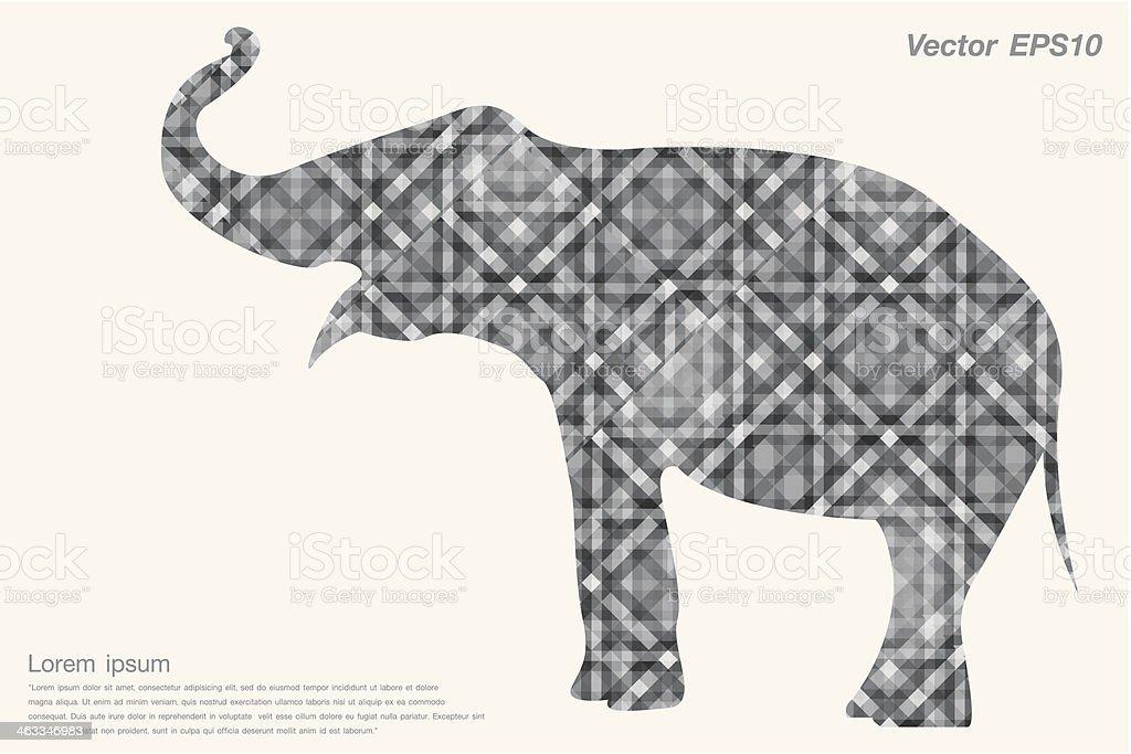 Isolated elephant Gray abstract royalty-free stock vector art