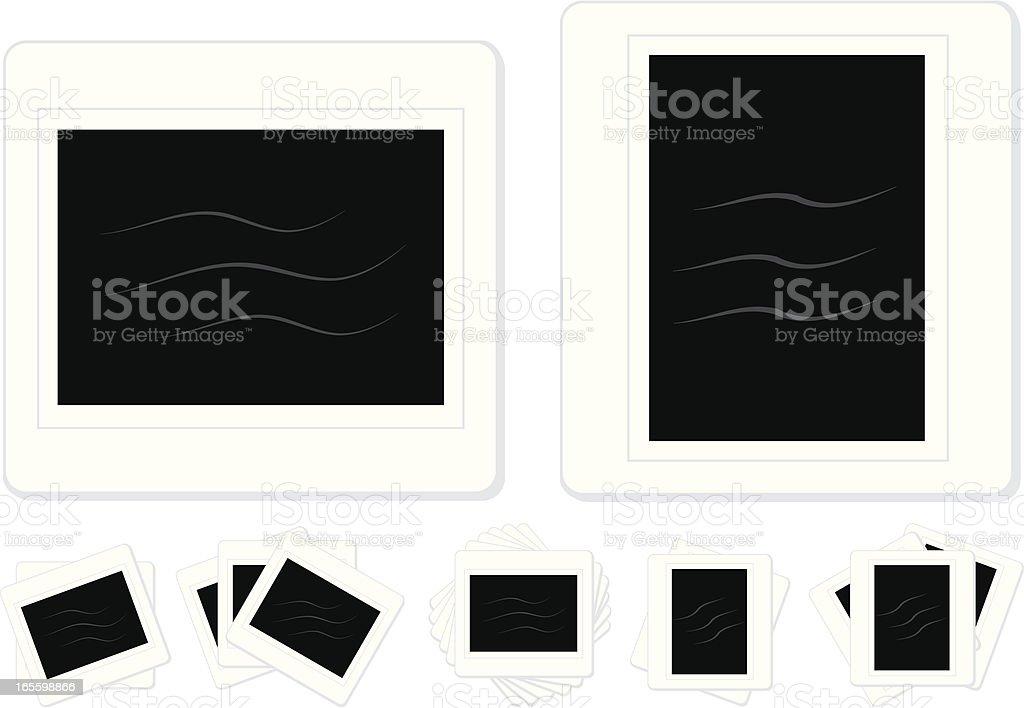 Isolierte-Folie Bilder in verschiedenen Layout-Styles Lizenzfreies vektor illustration