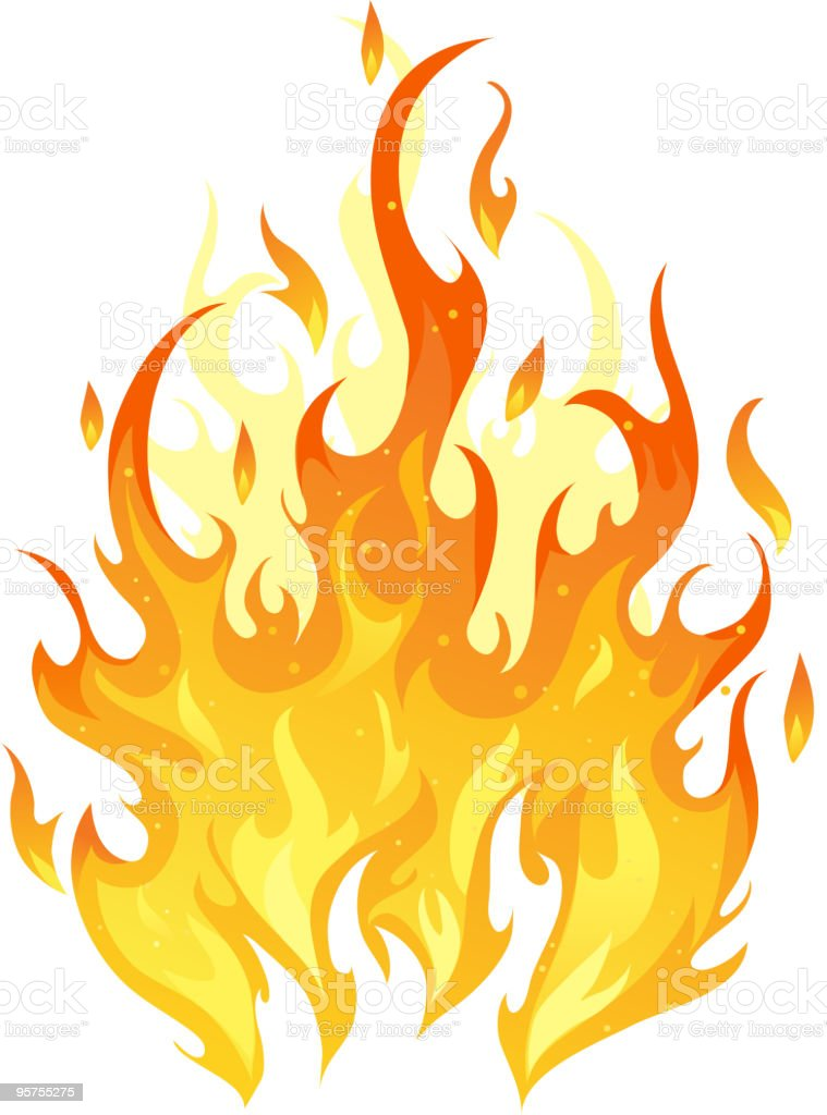 Isolated fire vector art illustration