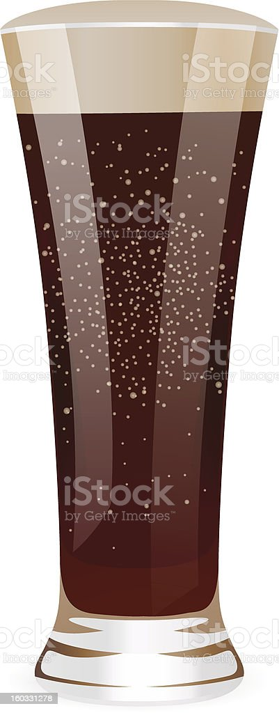 Isolated Fizzy water. Tall glass. Vector TAB Cola /  Pepsi / Coca-Cola royalty-free stock vector art