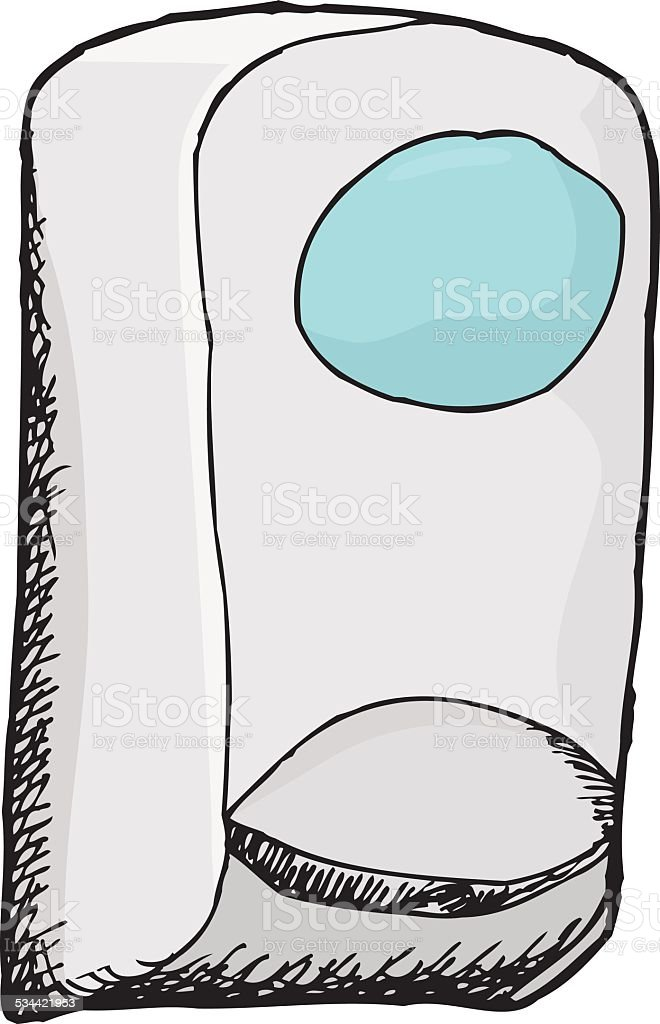 Isolated Hand Sanitizer vector art illustration