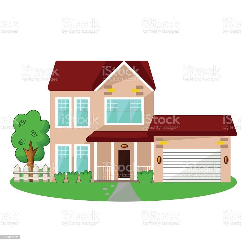 Isolated house icon vector art illustration