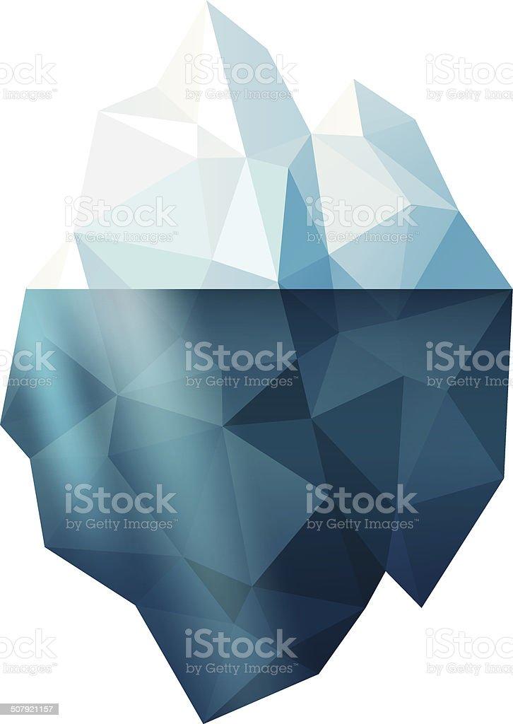 Isolated iceberg vector art illustration