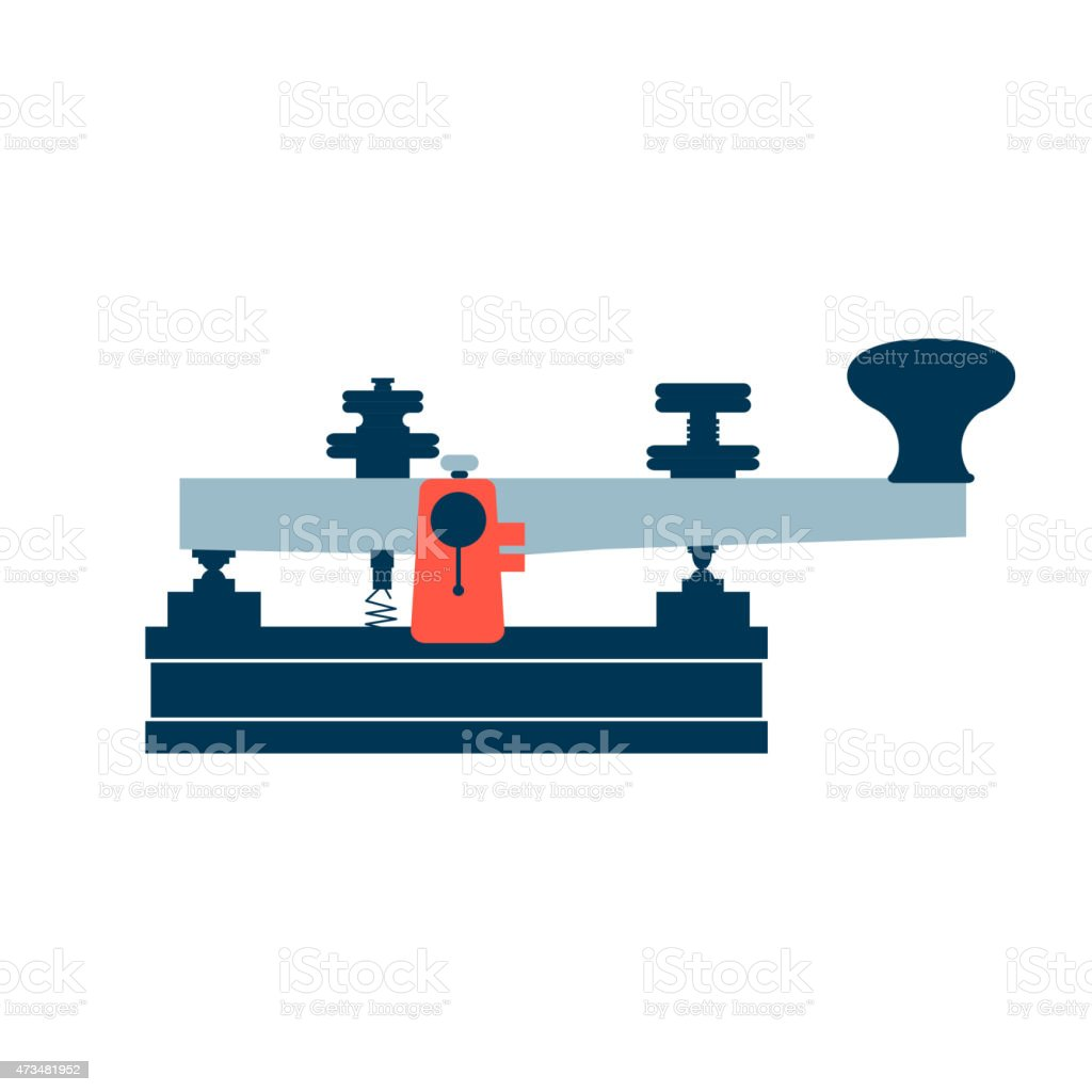 Isolated icon vintage old telegraph vector art illustration