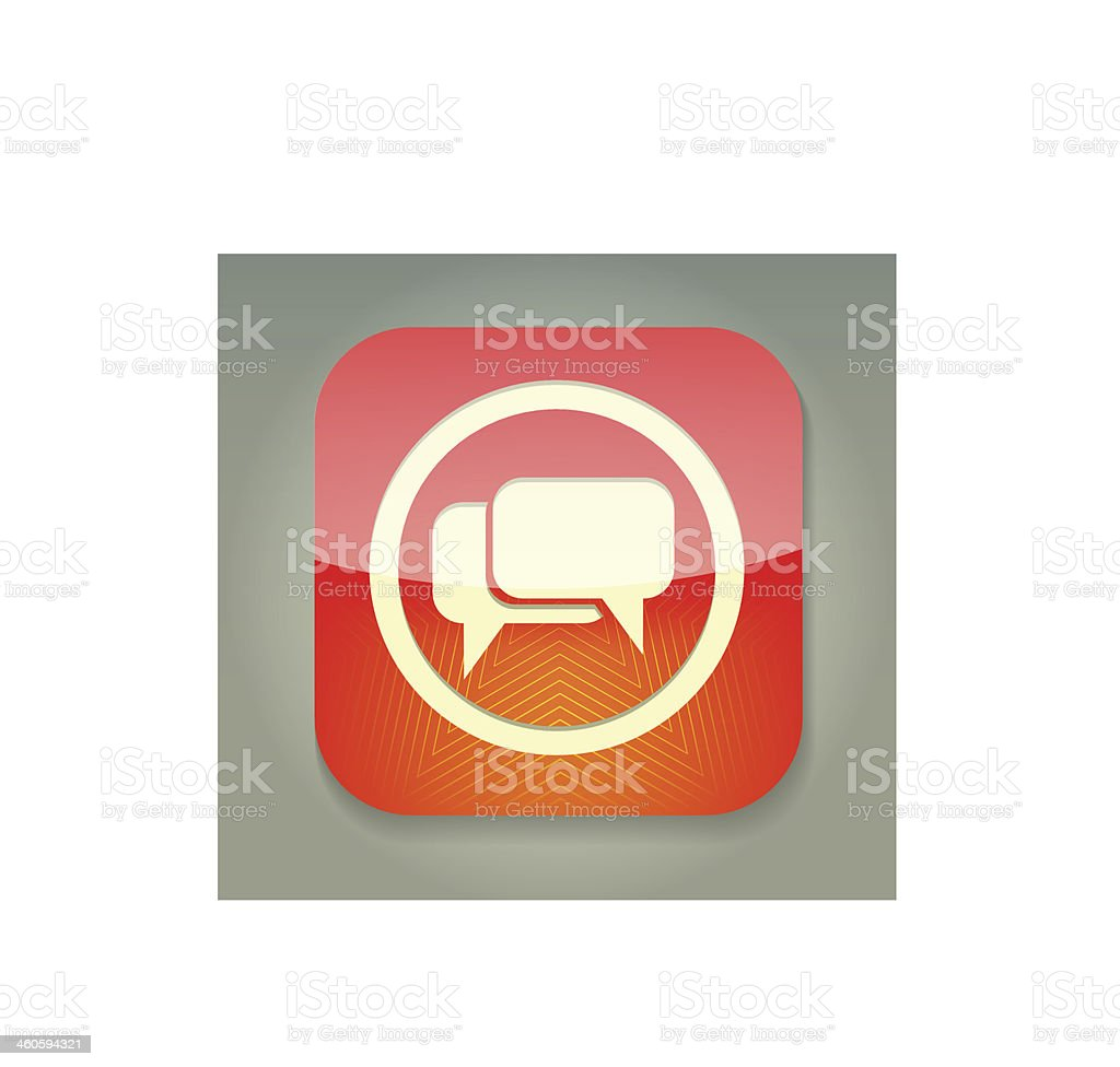 Isolated image of a bubble speech icon in red royalty-free stock vector art