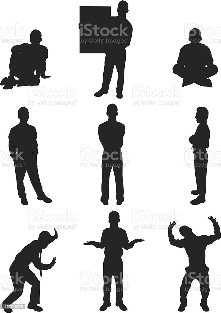 Isolated images of young businessman royalty-free stock vector art