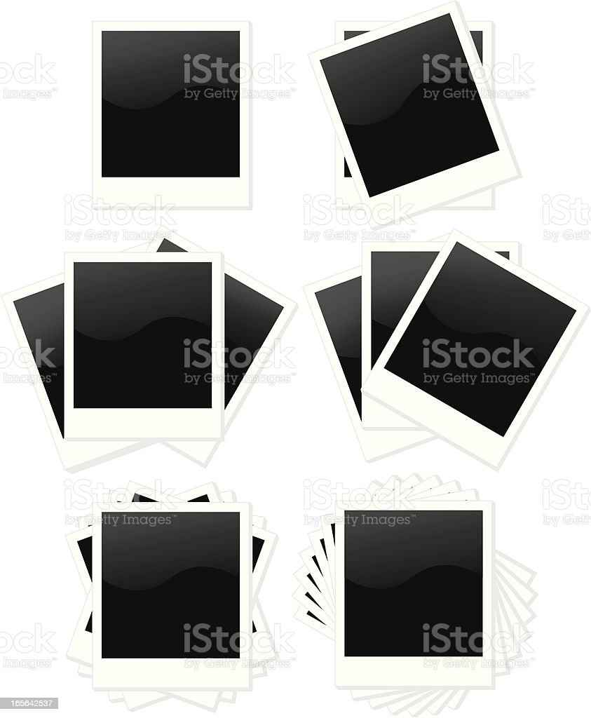Isolated Instant Print Frames Set in Several Layout Styles royalty-free stock vector art