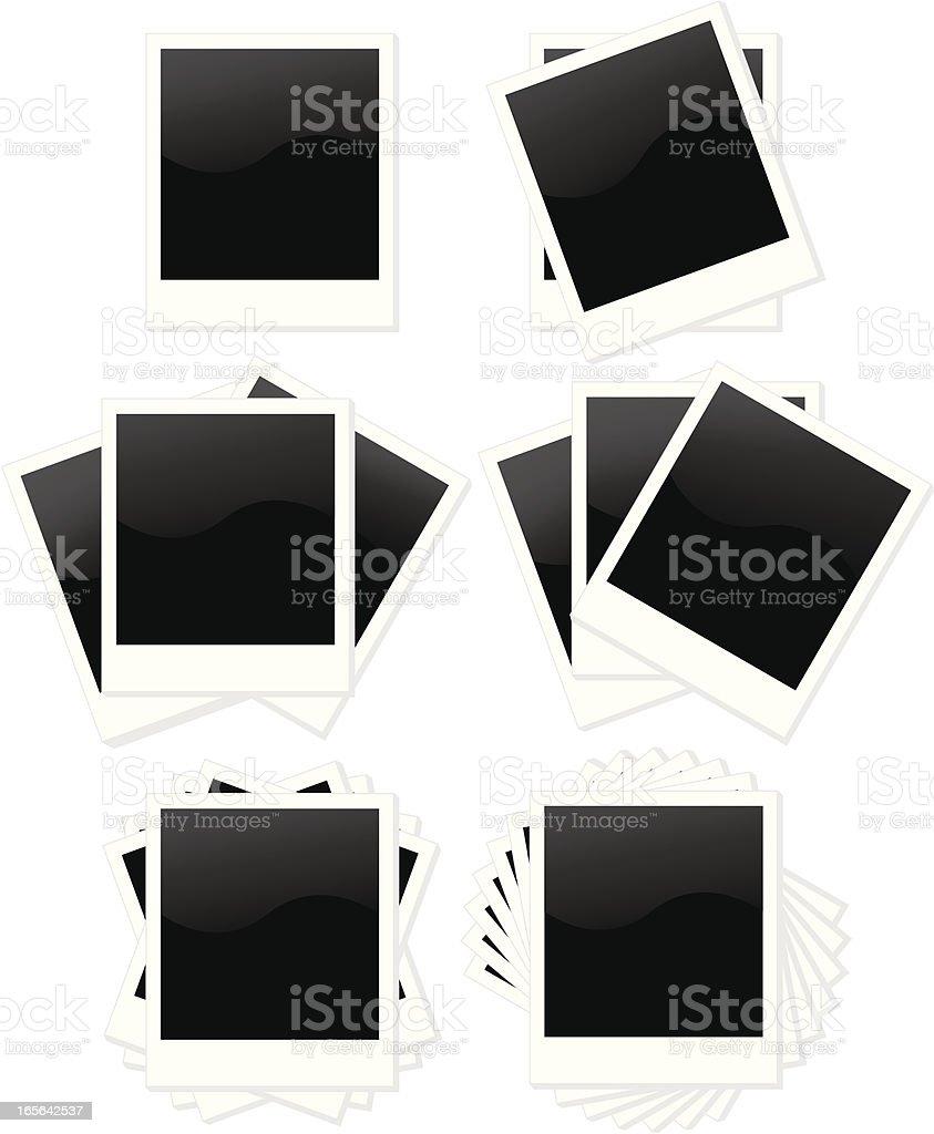 Isolierte Polaroid-Rahmen in verschiedenen Layout-Styles Lizenzfreies vektor illustration