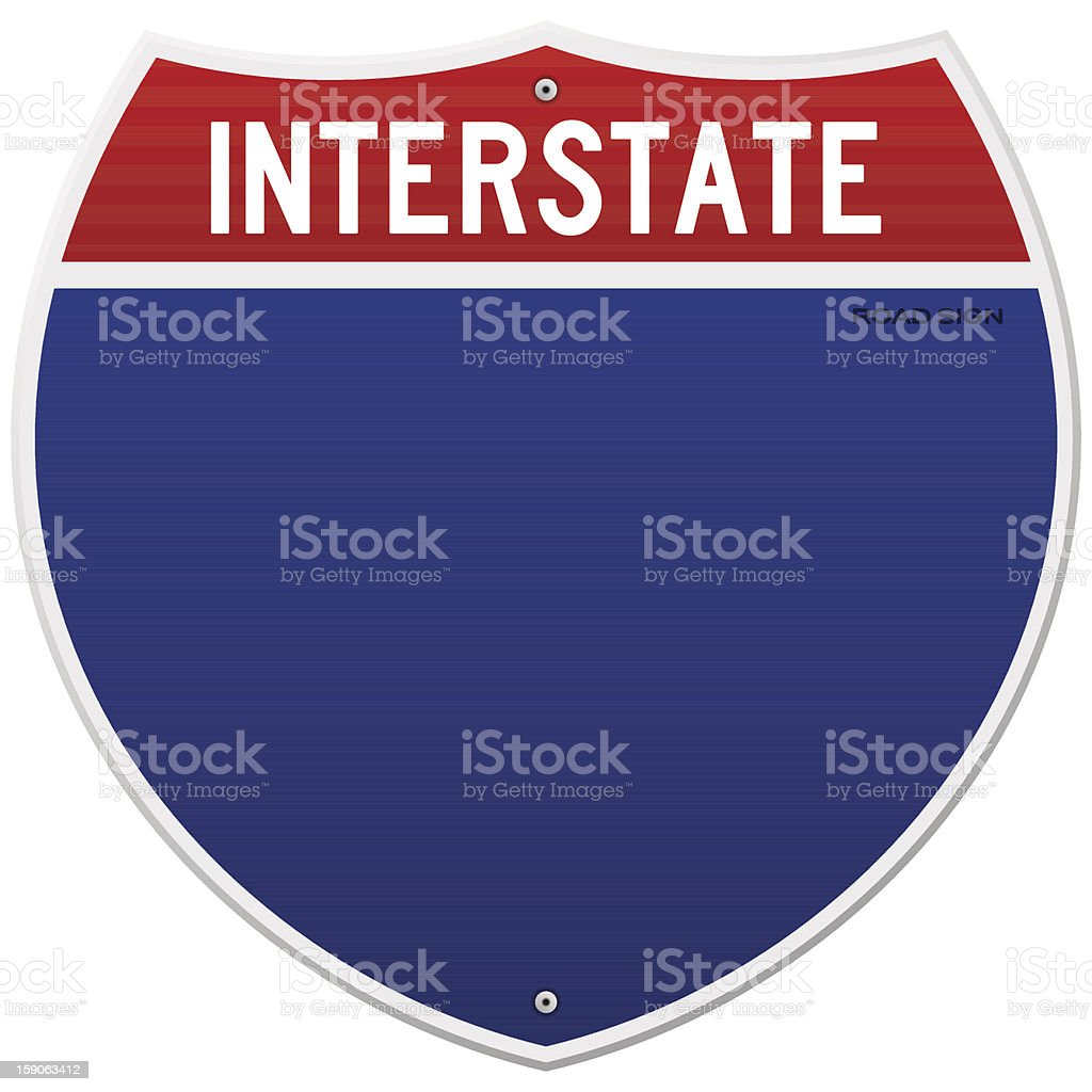 Isolated Interstate Sign vector art illustration