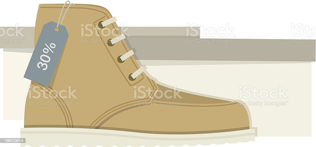Isolated Leather Shoe royalty-free stock vector art