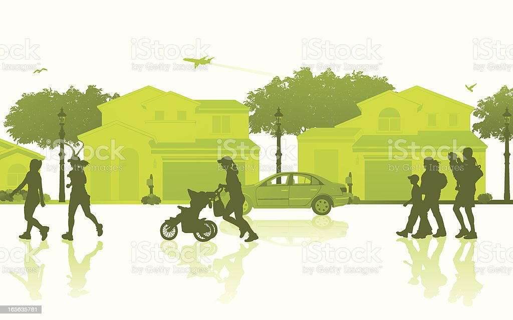 Isolated Neighborhood Scene royalty-free stock vector art