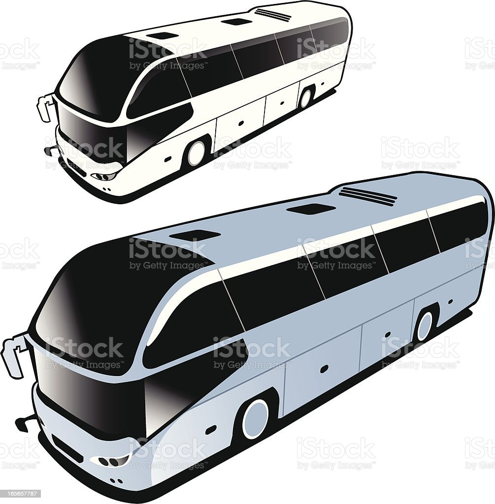 isolated new bus vector art illustration