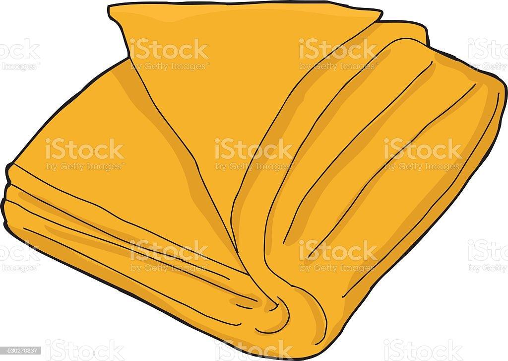Isolated Orange Towel vector art illustration