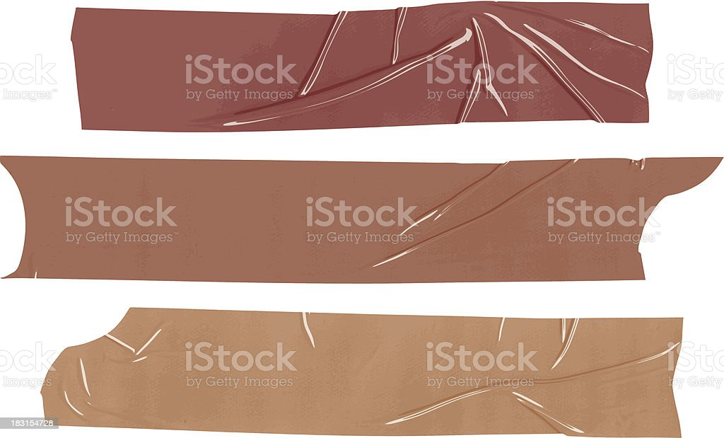 isolated packing tape samples vector art illustration