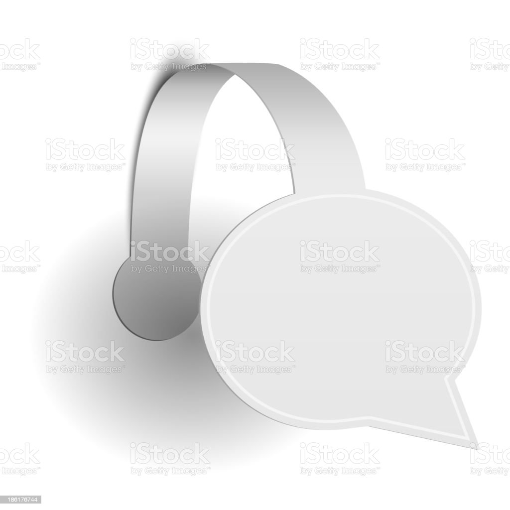 Isolated Paper Promotion Wobbler royalty-free stock vector art