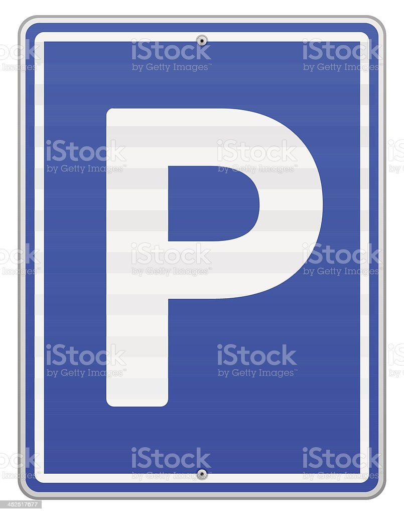Isolated Parking Sign vector art illustration