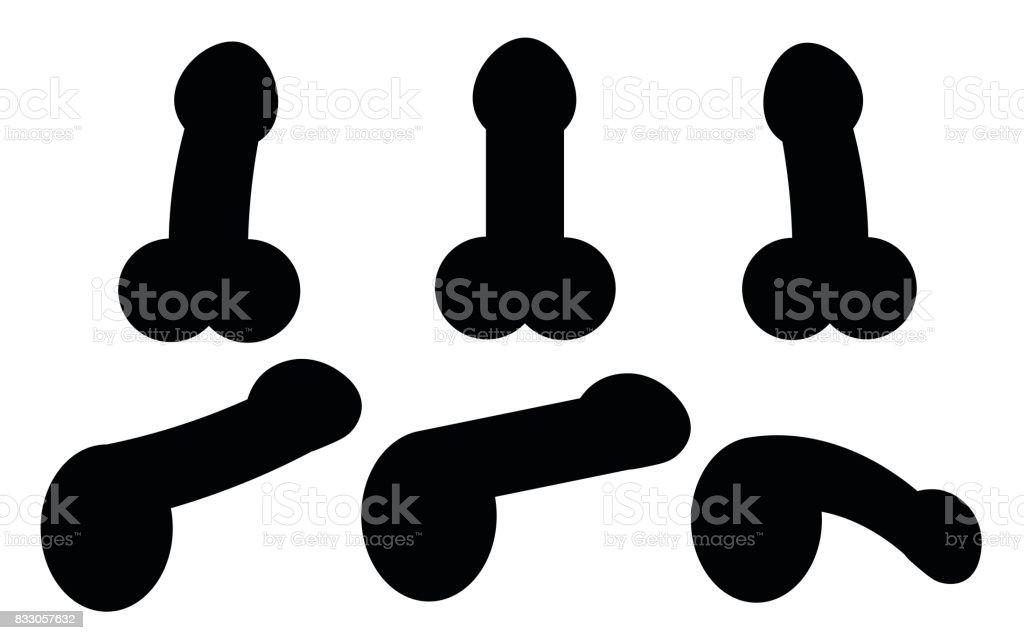 white penis silhouettes clip art vector images illustrations istock rh istockphoto com