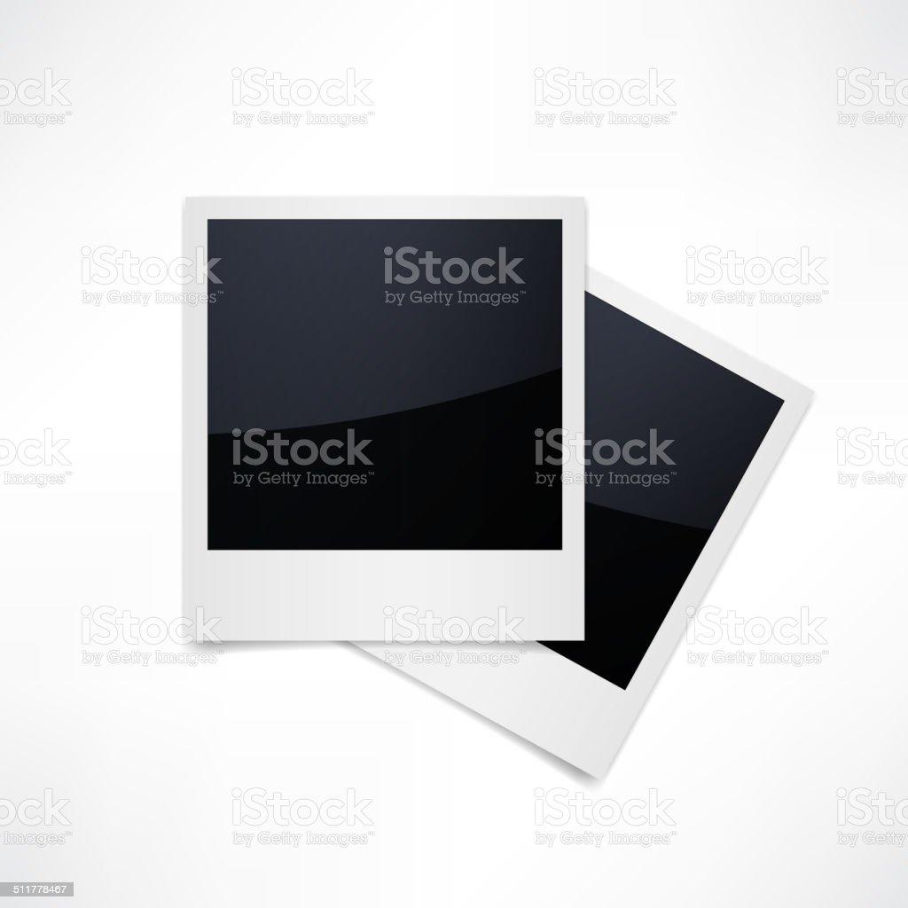 Isolated Photo Frames on White Background vector art illustration