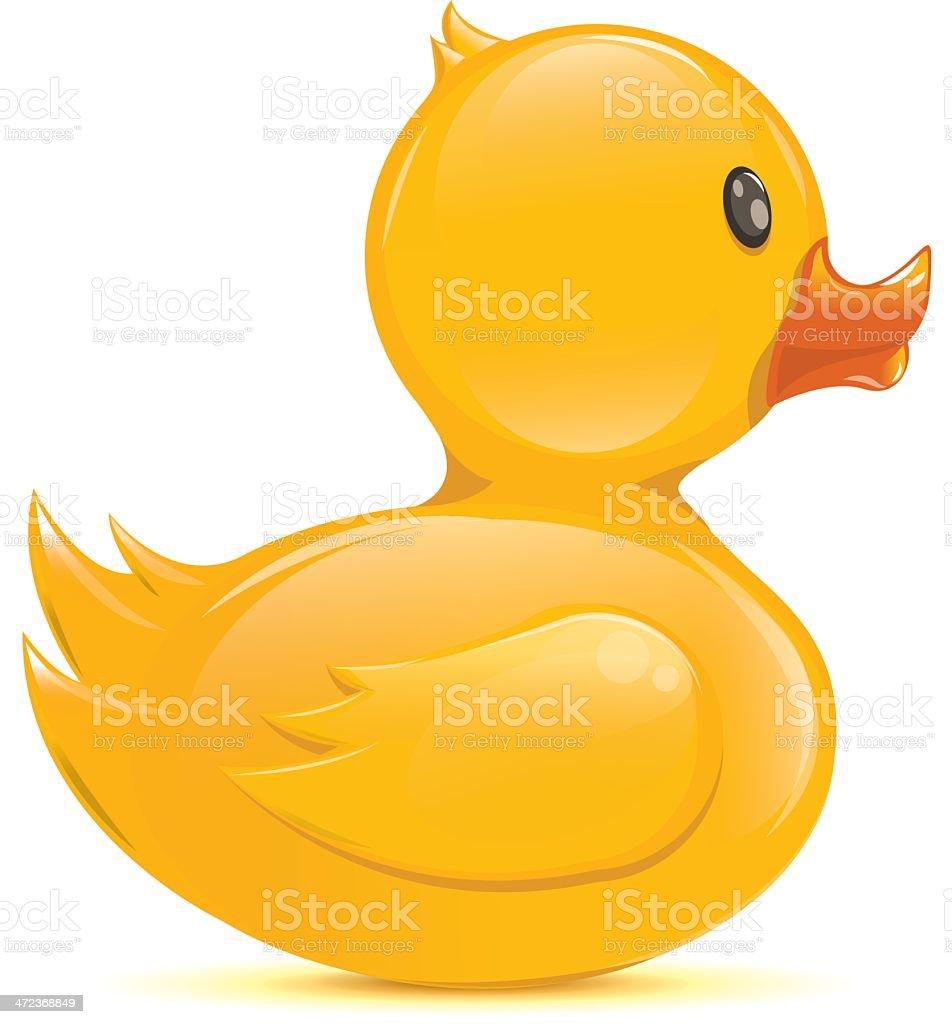 Isolated rubber duck - Illustration vector art illustration