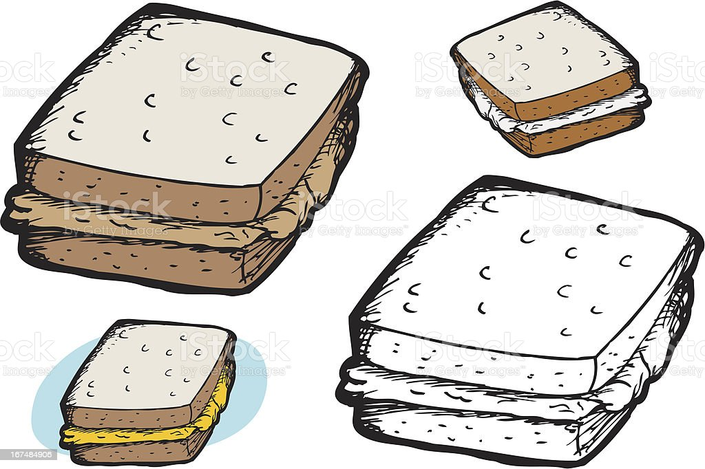 Isolated Sandwich royalty-free stock vector art