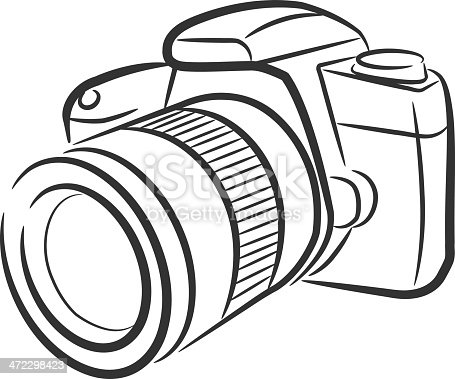 Isolated Slr Camera stock vector art 472298423 | iStock