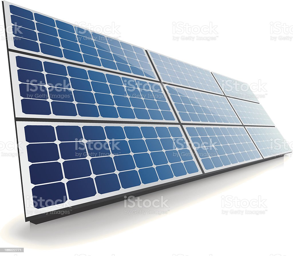 Isolated solar panel royalty-free stock vector art