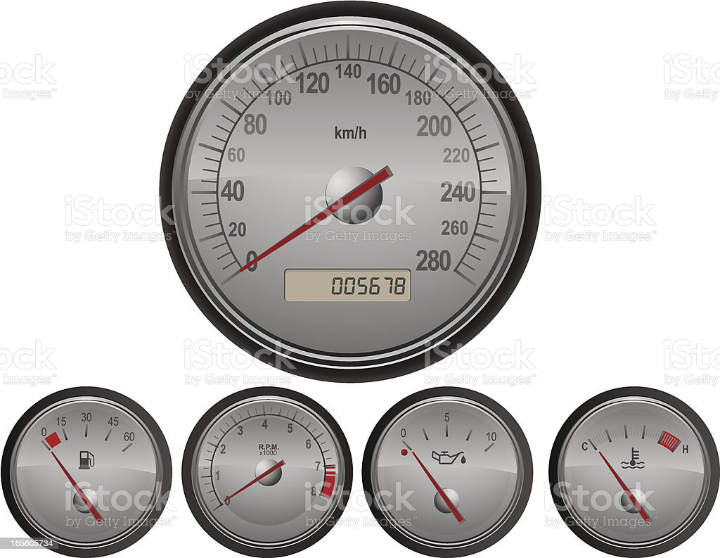 Isolated Speedometer royalty-free stock vector art