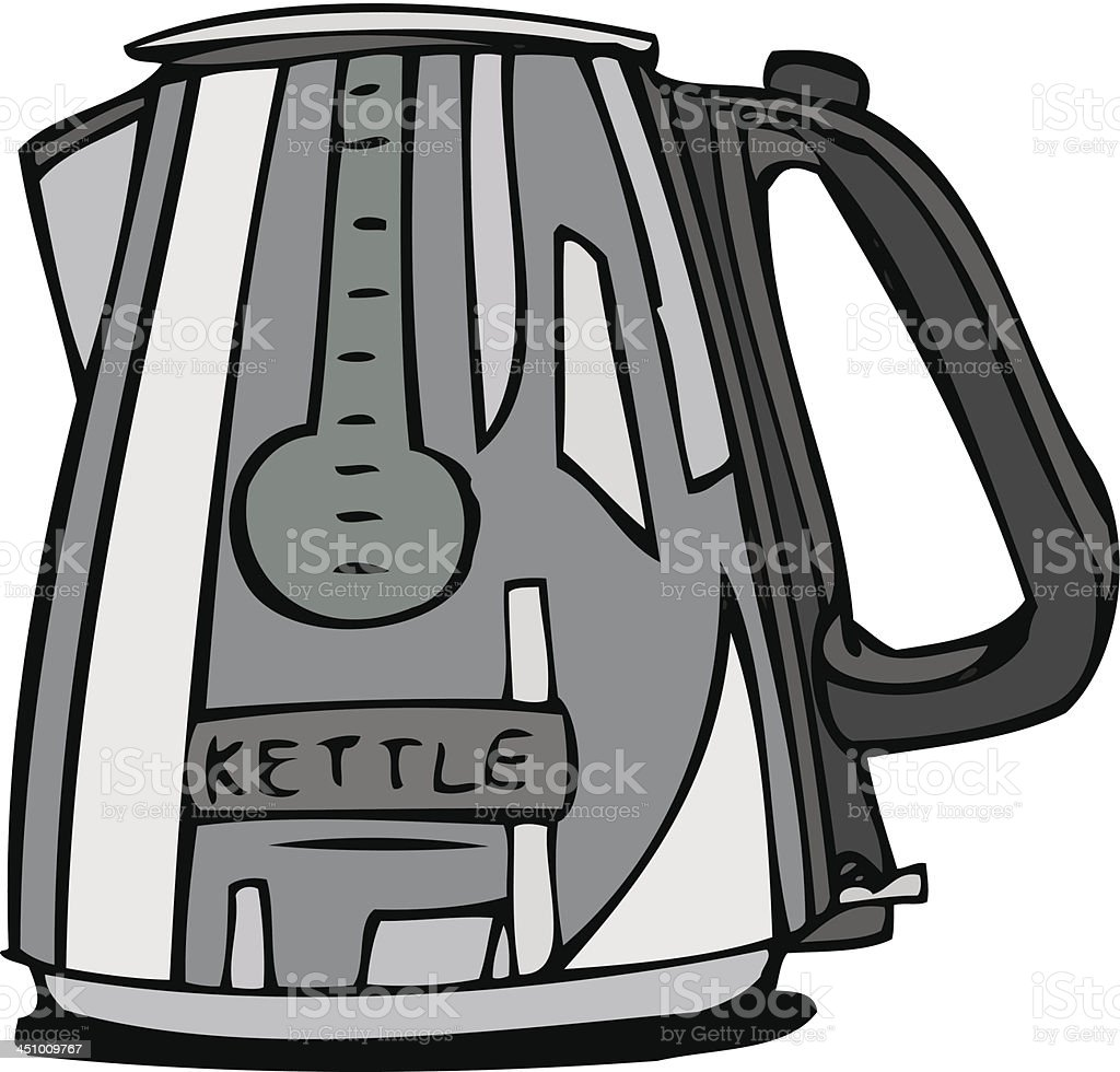 Isolated Vector Illustration of Kitchen Kettle royalty-free stock vector art