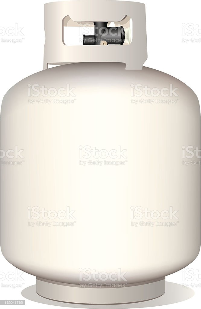Isolated Vector Propane Tank (includes jpg Raster) vector art illustration